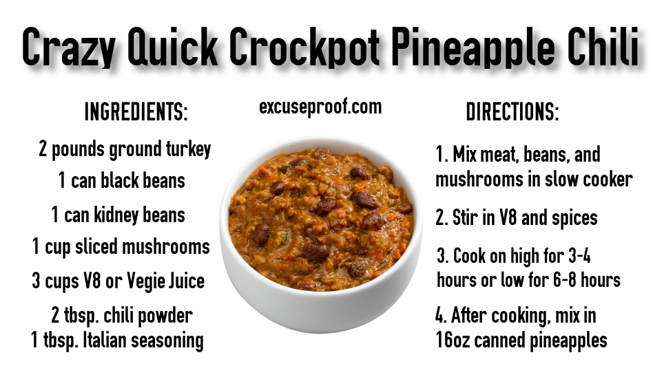 Quick Healthy Slow Cooker Chili Recipe Tasty Pineapple Chili